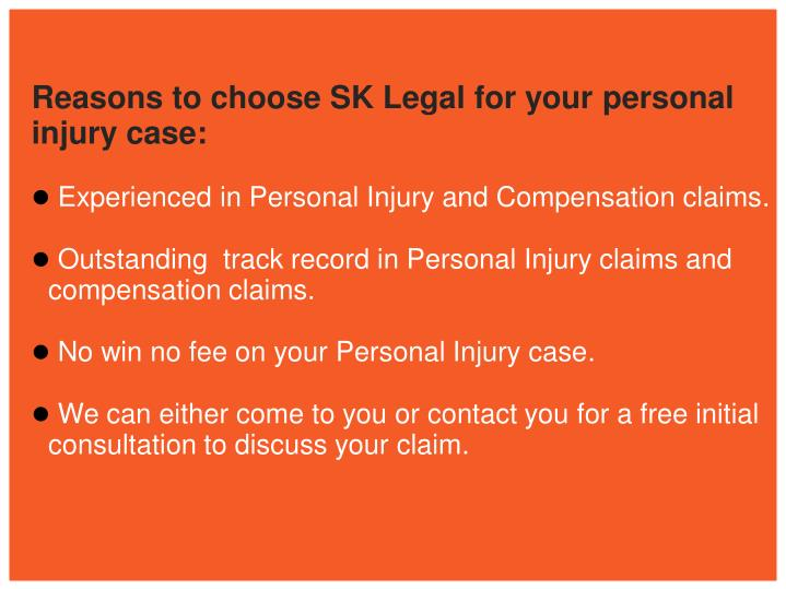 Reasons to choose SK Legal for your personal