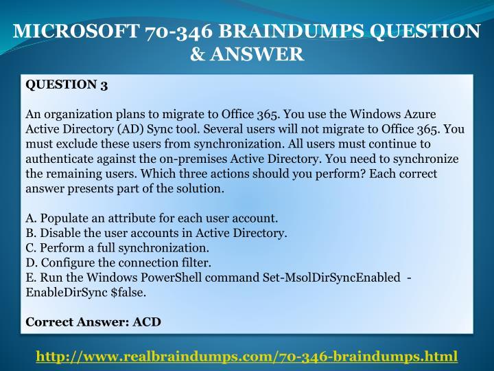 MICROSOFT 70-346 BRAINDUMPS QUESTION
