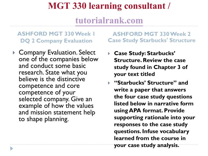 Mgt 330 learning consultant tutorialrank com2
