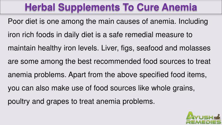 Herbal Supplements To Cure Anemia