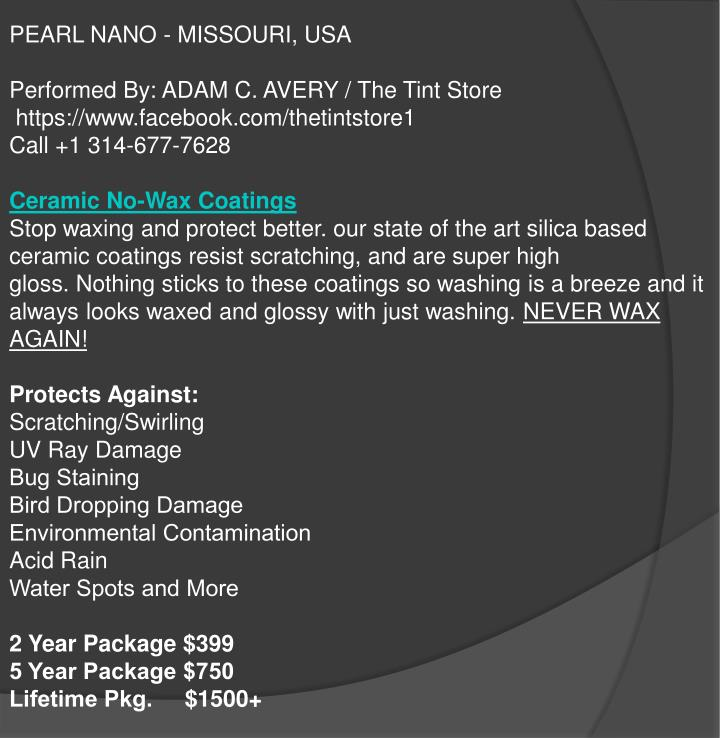 PEARL NANO - MISSOURI, USA