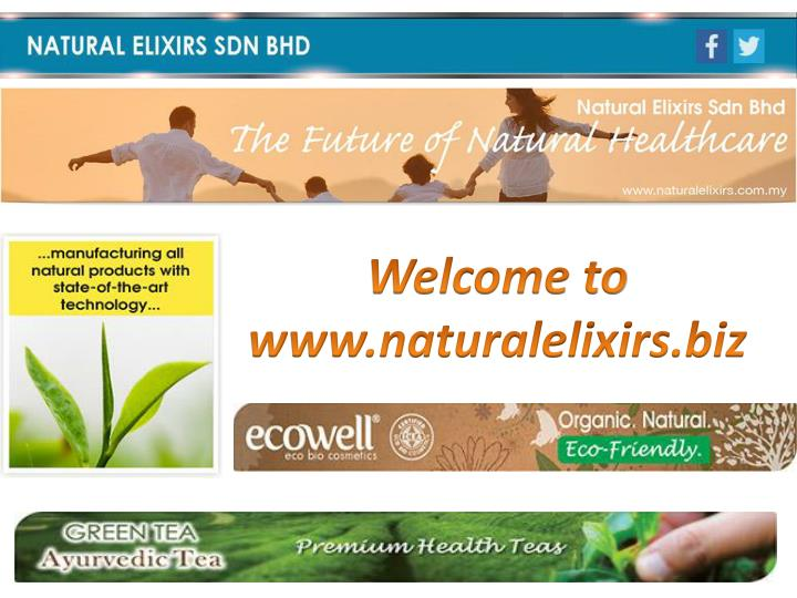 Welcome to www.naturalelixirs.biz