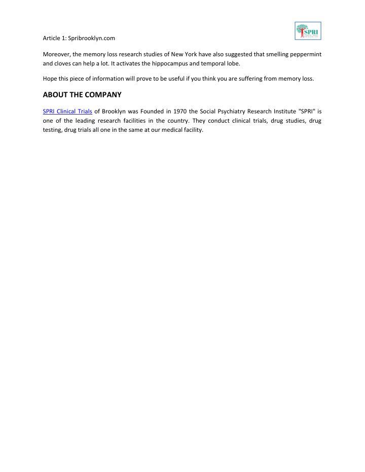 Article 1: Spribrooklyn.com                                                                         ...