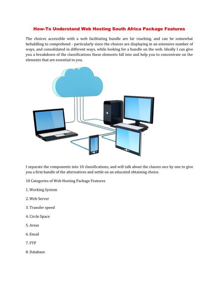 How-To Understand Web Hosting South Africa Package Features