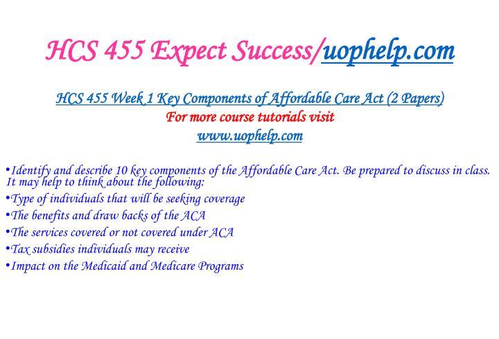 Hcs 455 expect success uophelp com2