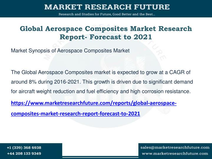 global aerospace composites market research report forecast to 2021