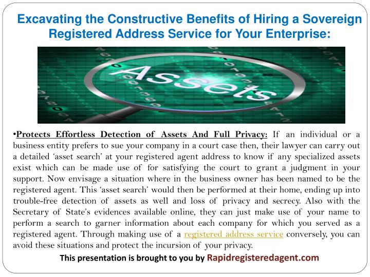Excavating the Constructive Benefits of Hiring a Sovereign Registered Address Service for Your Enter...