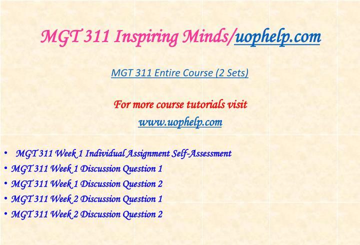 Mgt 311 inspiring minds uophelp com1