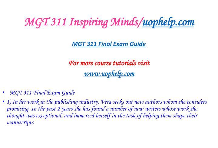 Mgt 311 inspiring minds uophelp com2
