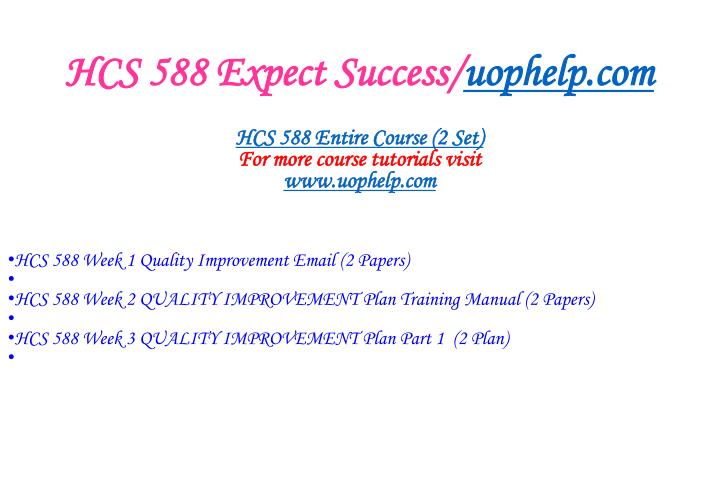 Hcs 588 expect success uophelp com1