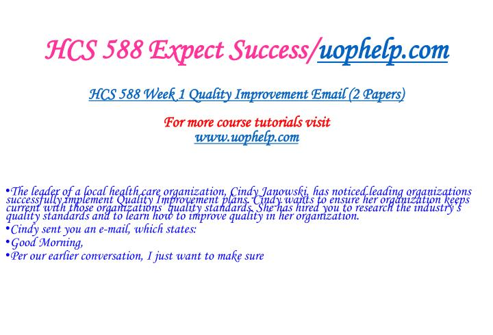 Hcs 588 expect success uophelp com2