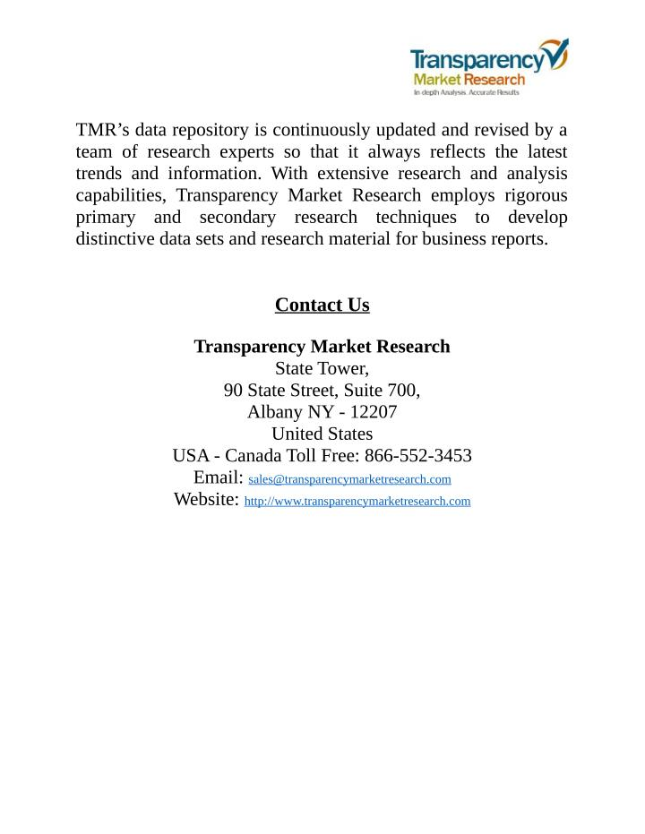 TMR's data repository is continuously updated and revised by a