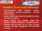 thinknext cloud campus advantages1