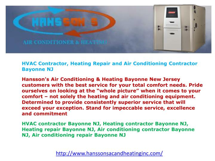 HVAC Contractor, Heating Repair and Air Conditioning Contractor Bayonne NJ