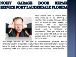 noisy garage door repair service fort lauderdale florida