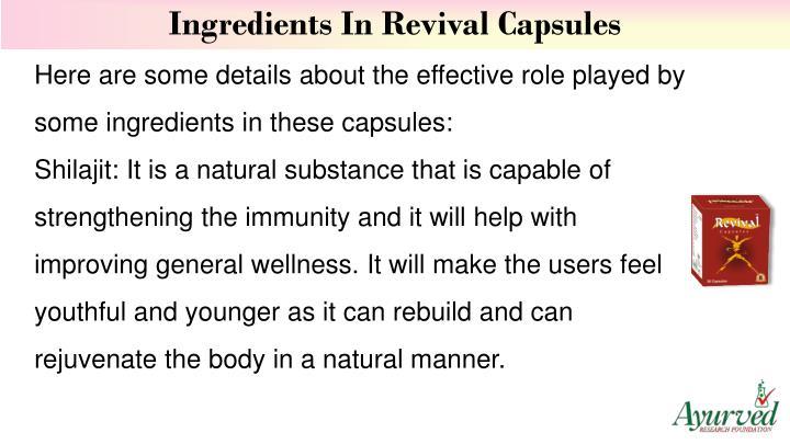 Ingredients In Revival Capsules