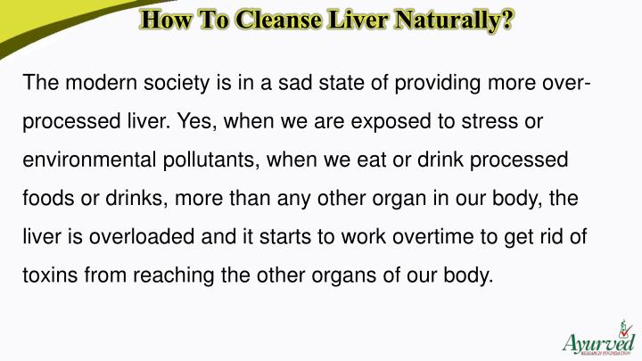 How To Cleanse Liver Naturally?