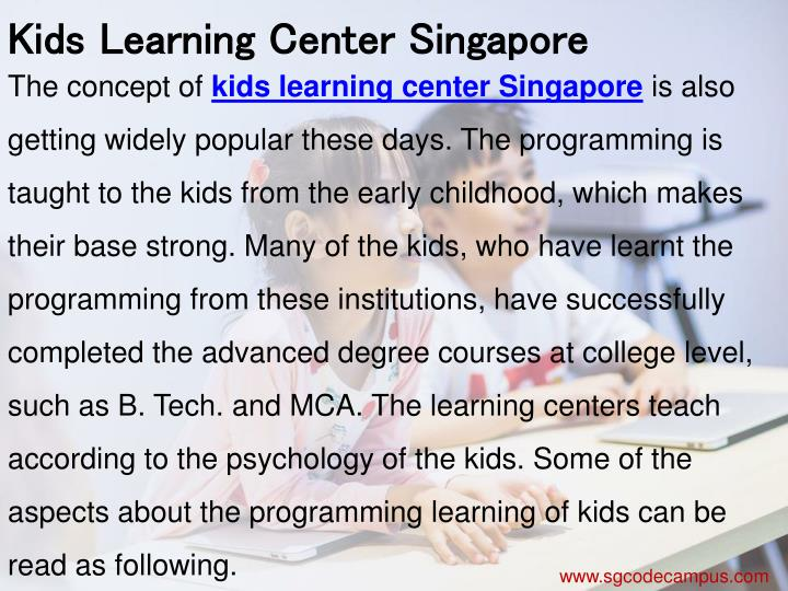 Kids Learning Center Singapore