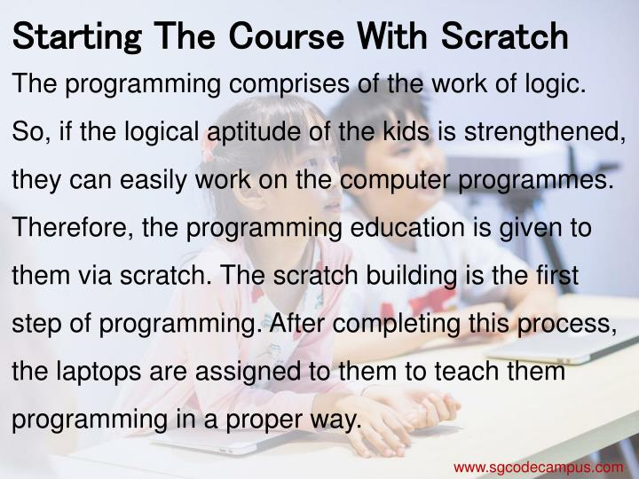 Starting The Course With Scratch