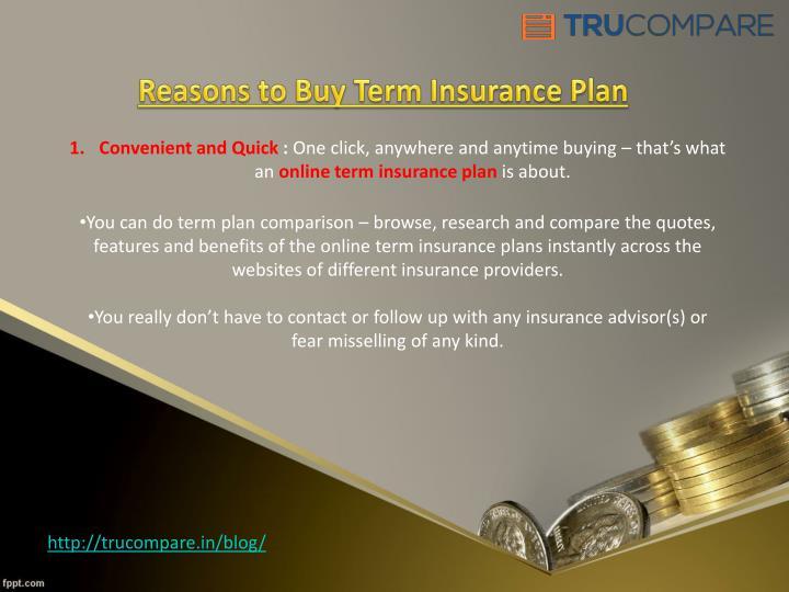 Reasons to Buy Term Insurance Plan