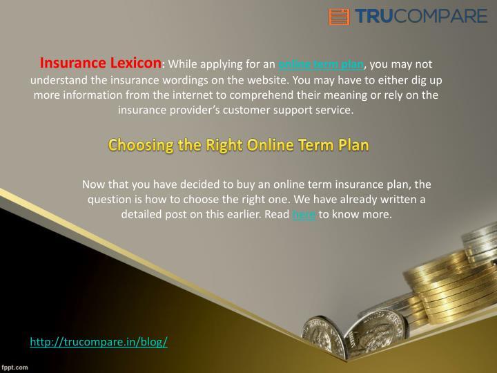 Insurance Lexicon