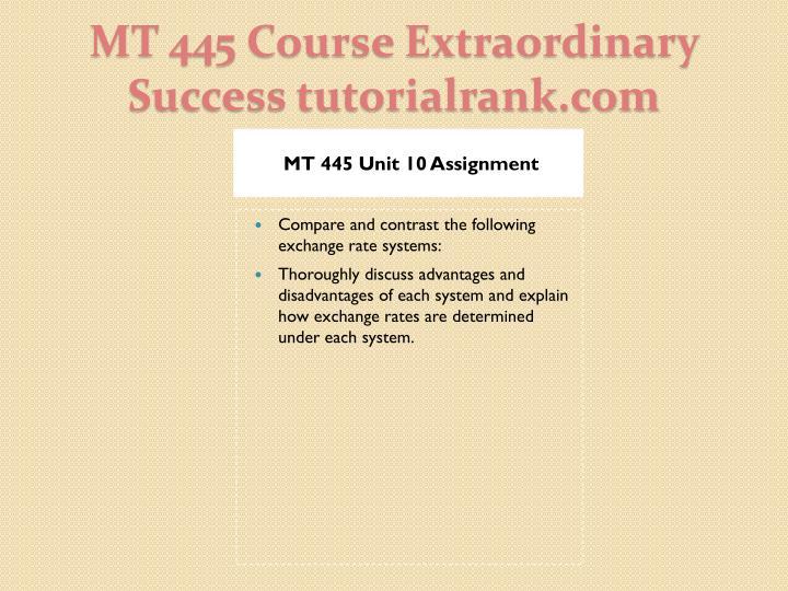 MT 445 Unit 10 Assignment