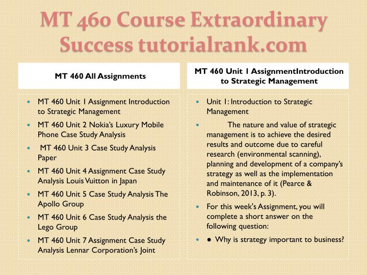 Mt 460 course extraordinary success tutorialrank com1