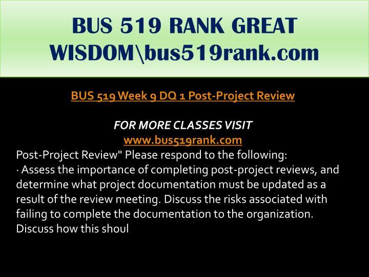 BUS 519 RANK GREAT WISDOM\bus519rank.com