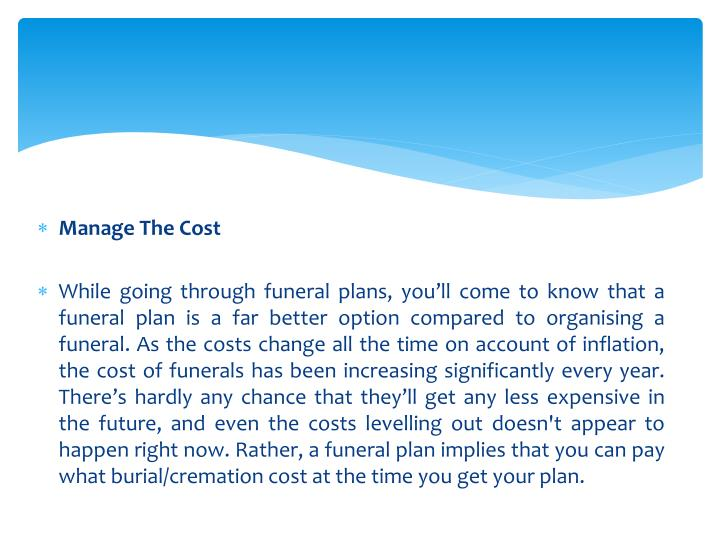 Manage The Cost