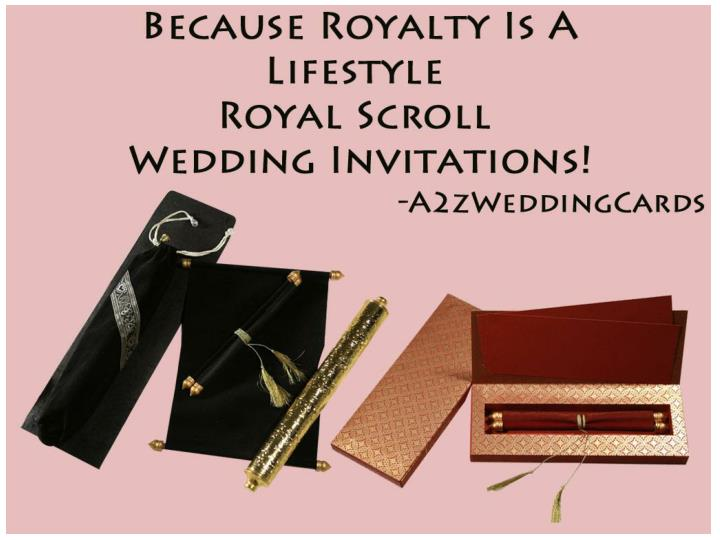 Because royalty is a lifestyle royal scroll wedding invitations
