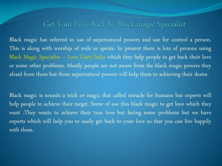 get your love back by black magic specialist n.