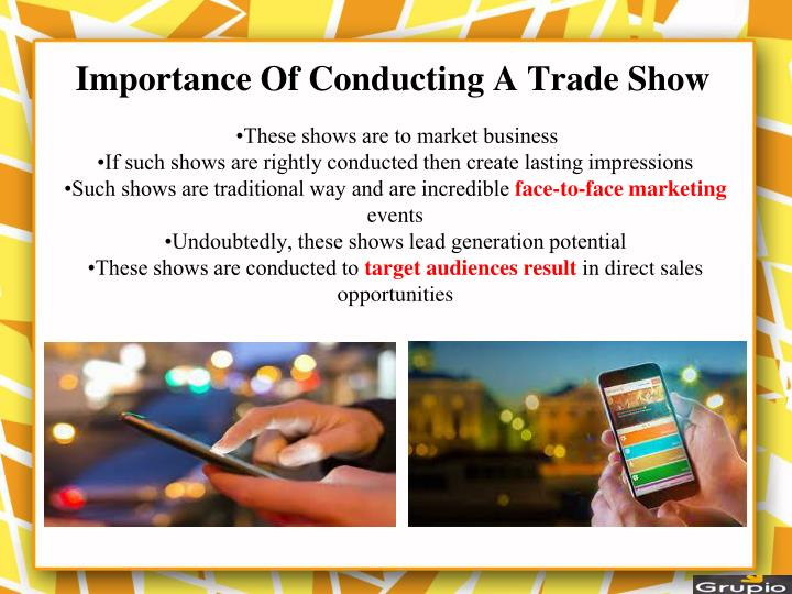Importance of conducting a trade show