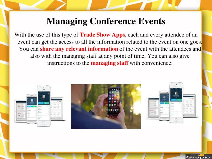 Managing Conference Events