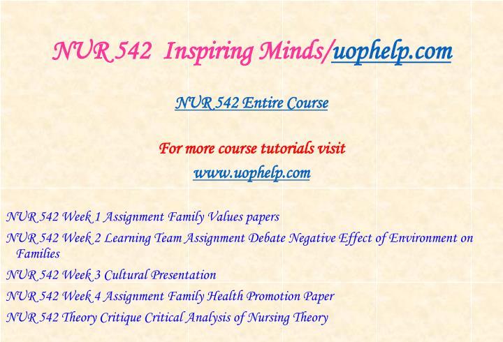 Nur 542 inspiring minds uophelp com1