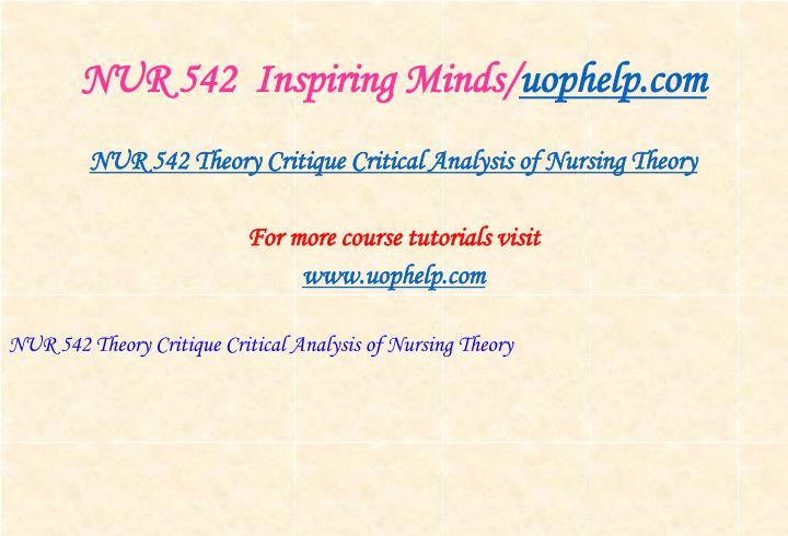 Nur 542 inspiring minds uophelp com2