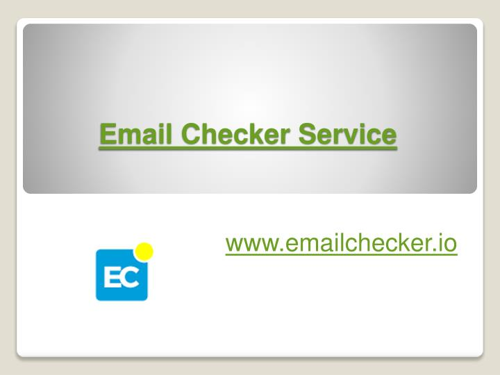 Email checker service