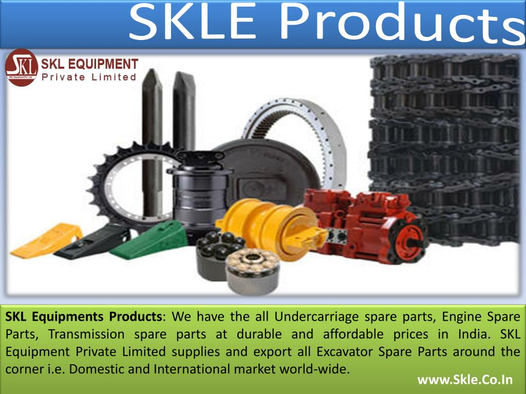 PPT - Excavator Undercarriage, Transmission and Engine Spares Parts