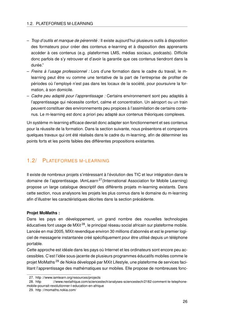 1.2. PLATEFORMES M-LEARNING