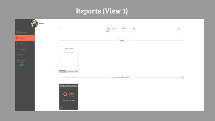 Reports (View 1)