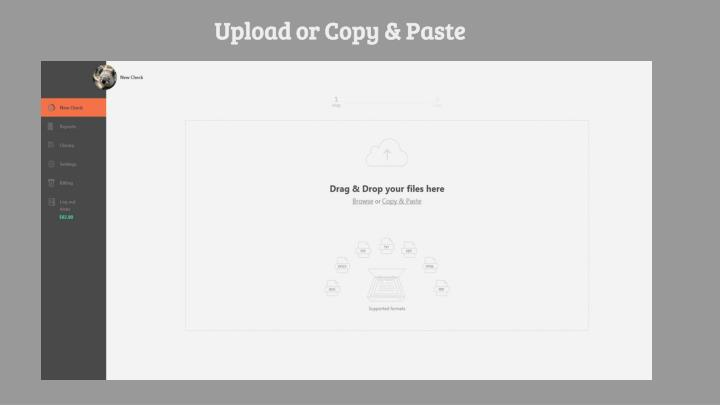 Upload or Copy & Paste