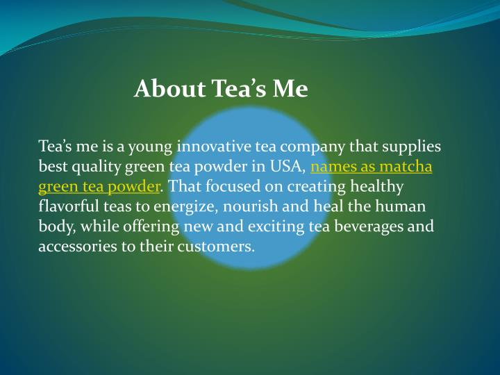 About Tea's Me