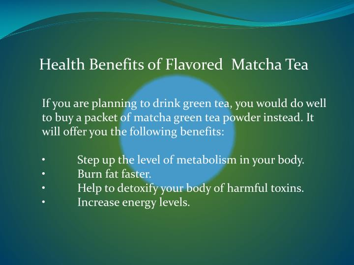 Health Benefits of Flavored