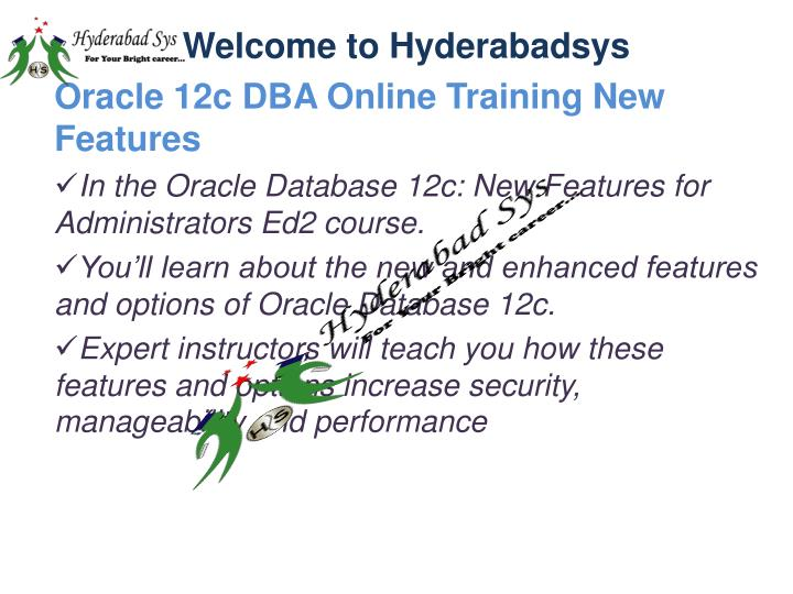 PPT - Oracle 12c DBA Online Training | Oracle 11g DBA online