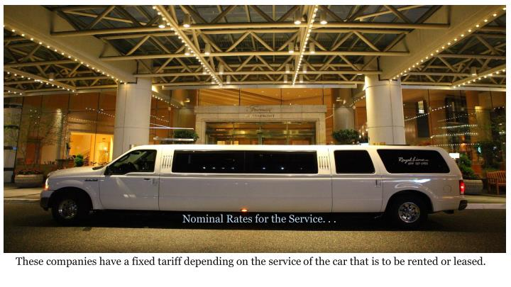 Nominal Rates for the Service. . .