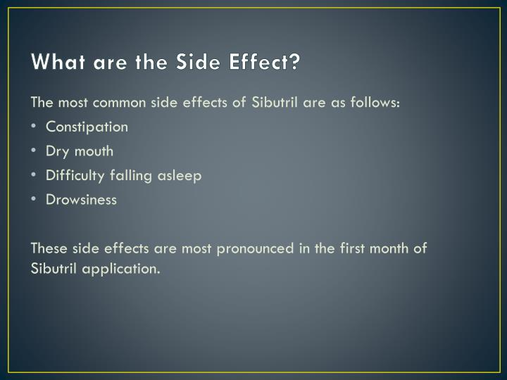 What are the Side Effect?