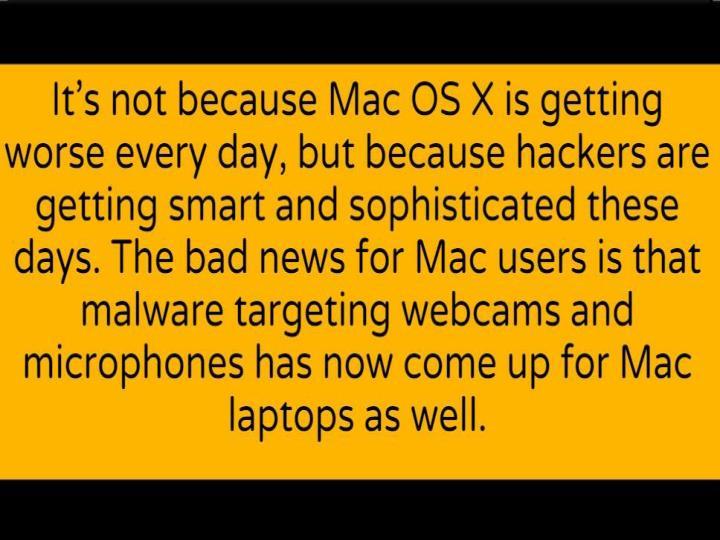 Mac malware can secretly spy on your webcam and mic cr risk advisory