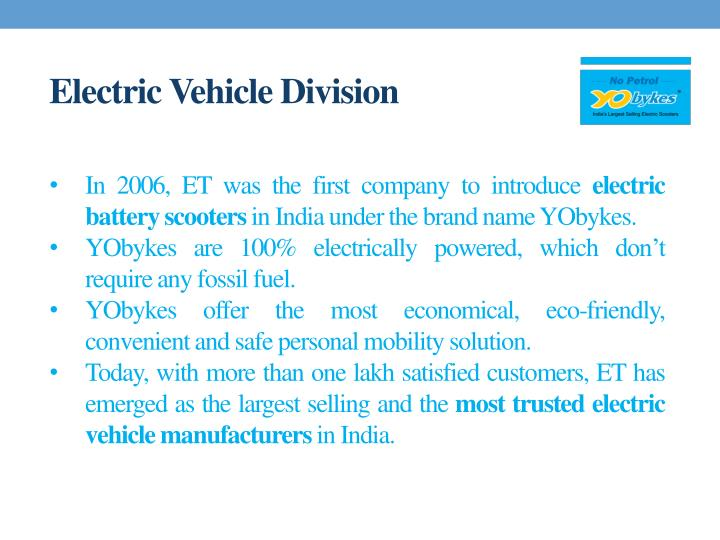 Electric Vehicle Division