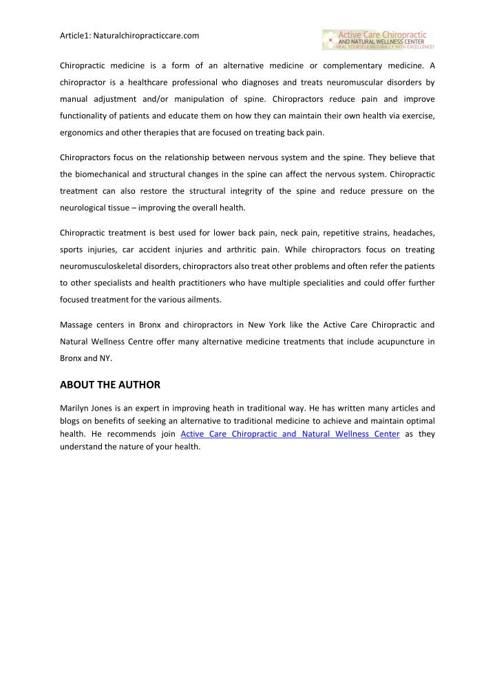 Article1: Naturalchiropracticcare.com                                                               ...