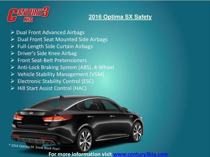 2016 Optima SX Safety