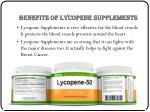 benefits of lycopene supplements